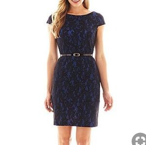 Alyx Blue with Black Lace Dress
